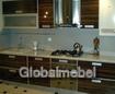 Кухонный гарнитур с пластиковыми фасадами Дерево Мокка на заказ