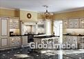 Кухня Афина Оро массив и шпон ясеня с золотистой патиной
