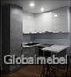 Кухня из ЛДСП (экошпона) Бетон светлый и Белый глянец в стиле Лофт