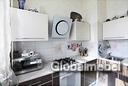 Кухня: низ из пластика Дуб Визоне в алюминиевой рамке, верх из эмали СК 328