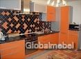 Кухня пластик оранжевый СК 823-2 Оранжевый матовый