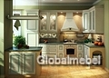 Кухня Искья зеленая массив и шпон ясеня