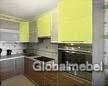 Кухня пластик а алюминивевой рамке К 325-1