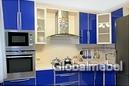 Кухня из синего пластика КС 754