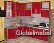 Кухня из пластика с алюминием угловая КС 796