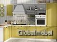 Кухноння мебель из МДФ под ПВХ Кантри Олива