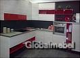 Кухня Каприччио Цинк и Красный