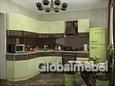 Кухня Браун Рипли из МДФ эмаль со вставками из шпона