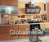 Кухня Квадро из ЛДСП с алюминием