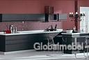Кухня с итальянскими фасадами Оксфорд Графит