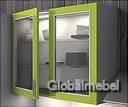 Пластиковый профиль для фасадов МДФ акрил со стеклом