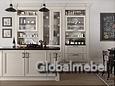 Кухня дерево Италия Кватро Песочный, массив и шпон ясеня
