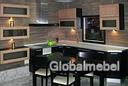 Кухня с фасадами из дерева Италия Сиена и Сиена-Венге
