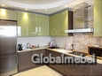 Кухня из дерева Италия Скалли Мокко и МДФ эмаль 1-1