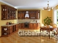 Кухня Виктория Массив и шпон черешни
