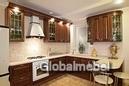 Кухня дерево Италия массив и шпон вишни Вивальди 3 (КС383)