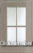 Фасад со стеклом массив и шпон дуба Темза