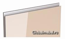 Jet Linea HPL Бежевый глянец с интегрированной ручкой цвета металлик