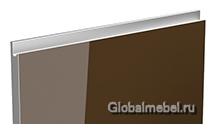 Jet-Linea HPL Шоколад глянец с интегрированной ручкой цвета металлик