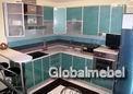 Кухня с фасадами из пластика КС507