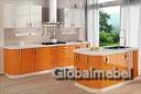 Кухня Белый и Оранж