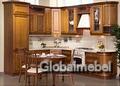 Кухонная мебель из массива и шпона березы Лаура