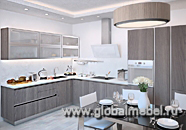 Кухня Шпон Дуб серый