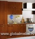 Кухня древесной расцветки Пим 1