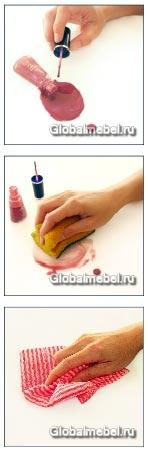 LG HI-MACS устойчив к пятнам от лака для ногтей