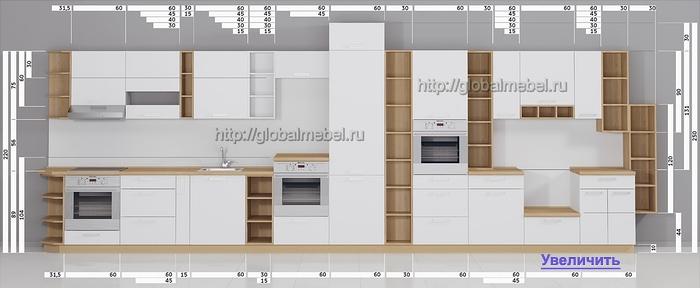 Схема модульных кухонь