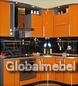Кухня с радиусными фасадами из оранжевого итальянского пластика Arpa 310