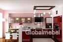 Кухня Бордо (глянец) и Мокко (коричневый глянец)
