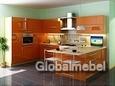 Кухня пластик Тропикана (оранжевый глянец)