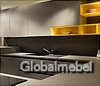 Кухня из пластика Fenix Castoro Ottawa с желтыми вставками